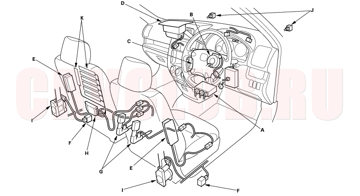 LY8z 13536 also 1428721 Engine Bay Wiring Pinouts together with Cadillac Cts 2003 Oil Pressure Sensor Location moreover RepairGuideContent moreover 2001 Chrysler Town And Country O2 Sensor Location. on honda civic o2 sensor wiring diagram