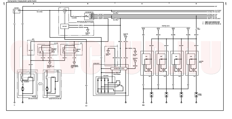 Хонда срв схема зажигания трамблер