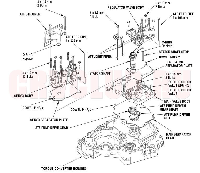 1999 honda civic automatic transmission diagram html
